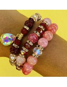 Cranberry Twist Bracelet Set