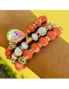 Peach Fantasy Bracelet Set