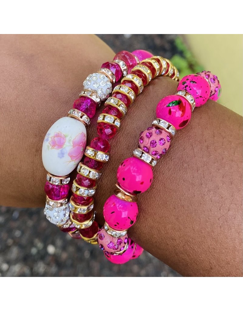 Hibiscus Bloom Bracelet Set