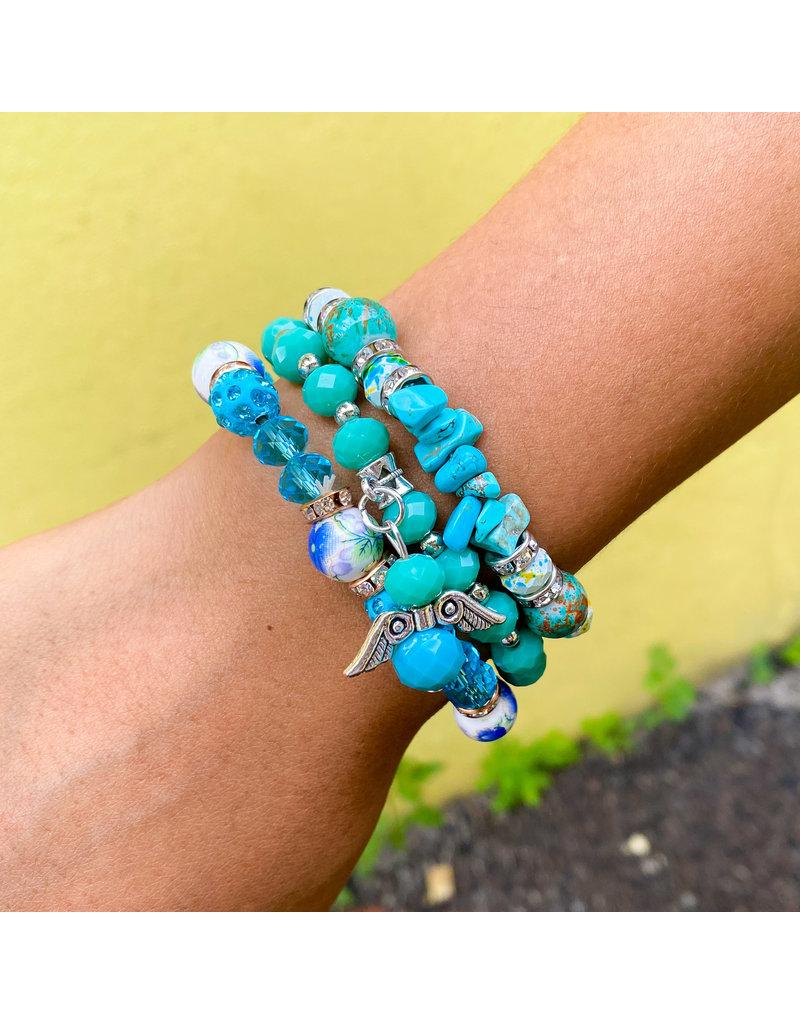 Crystal Blue Bracelet Set