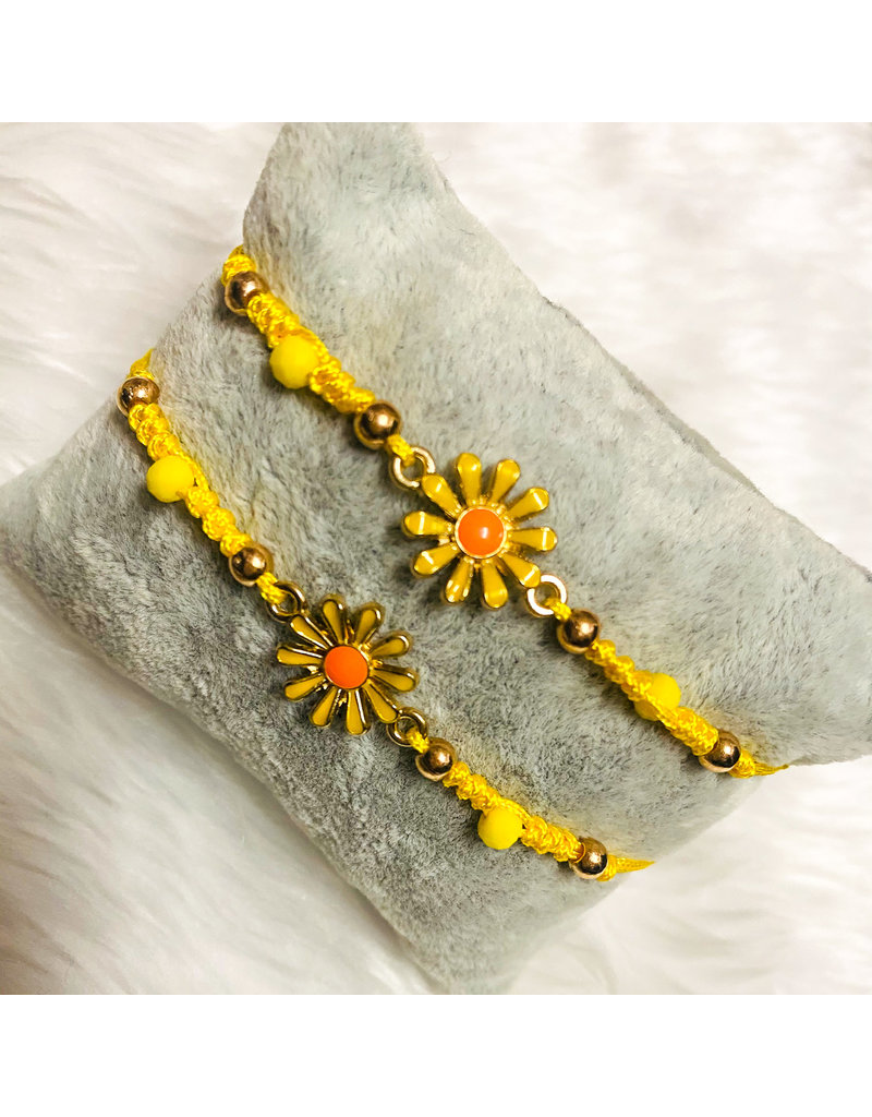Sunflower Friendship Bracelets - Yellow