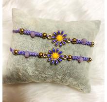 Sunflower Friendship Bracelets - Lavender