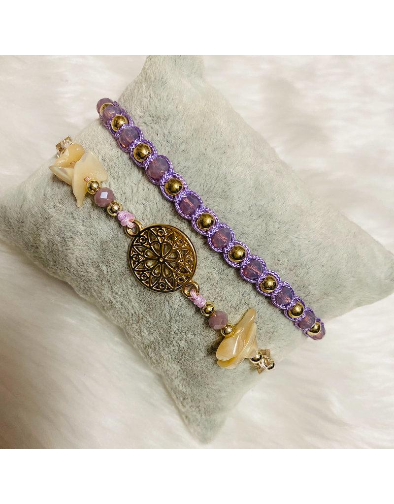 Dizzy Spell Friendship Bracelet - Lavender