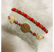 Dizzy Spell Friendship Bracelet - Red