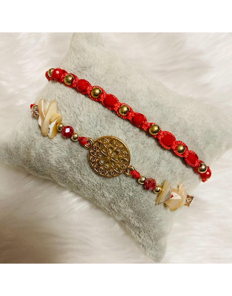 Dizzy Spell Friendship Bracelet - Red