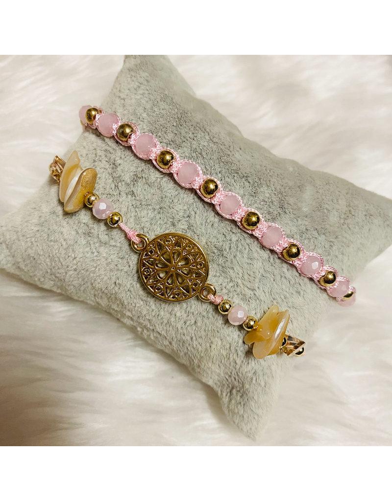 Dizzy Spell Friendship Bracelet - Pink