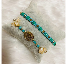 Dizzy Spell Friendship Bracelet - Turquoise