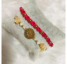 Dizzy Spell Friendship Bracelet - Fuchsia