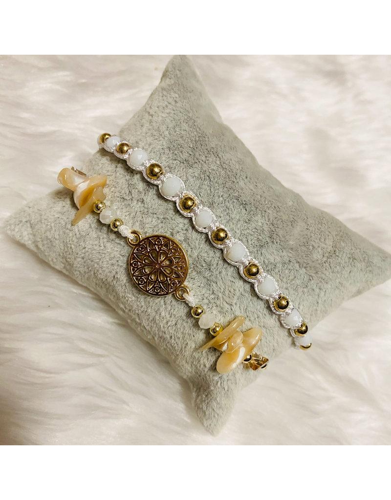 Dizzy Spell Friendship Bracelet - White