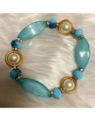 Stone Age Bracelet - Aqua