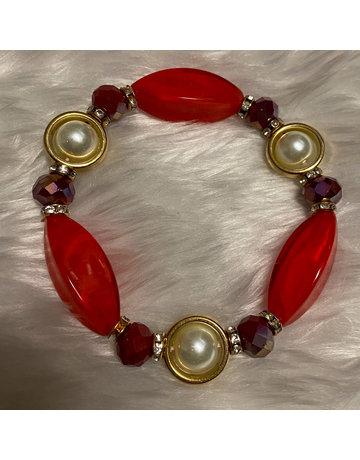 Stone Age Bracelet - Red
