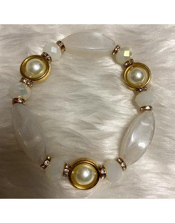Stone Age Bracelet - White