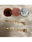 Stepping Stones Hair Pins - Brown