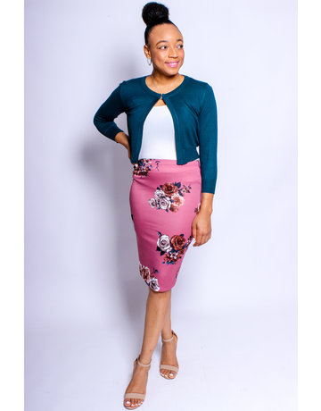 Fall Bunches Pencil Skirt