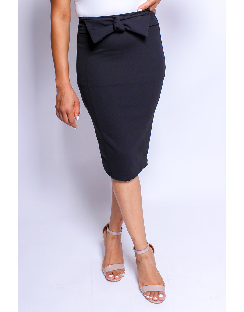 Made For Me Bow Skirt Black