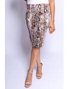 Second Skin Animal Print Skirt