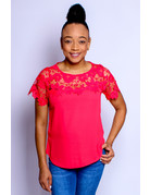 Pretty As They Come Crochet Top Coral