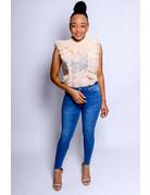 Golden Girl Lace Bodysuit Light Apricot