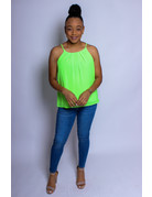 Neon Green Folded Perfection Top