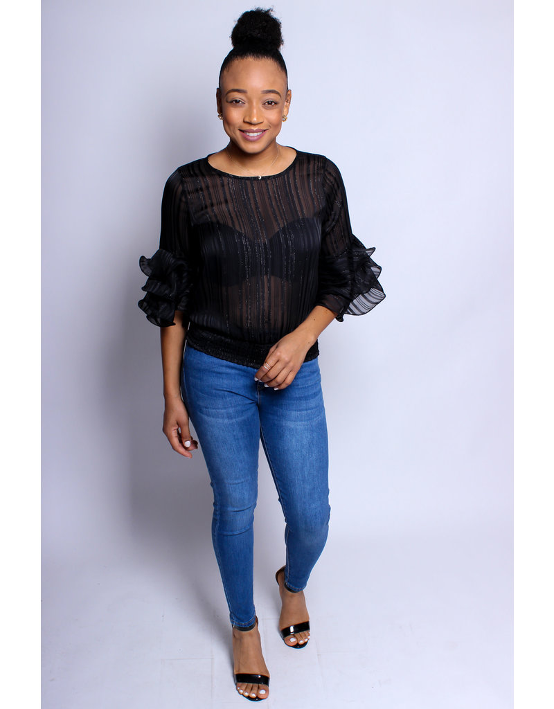 In The Shadows Ruffle Top