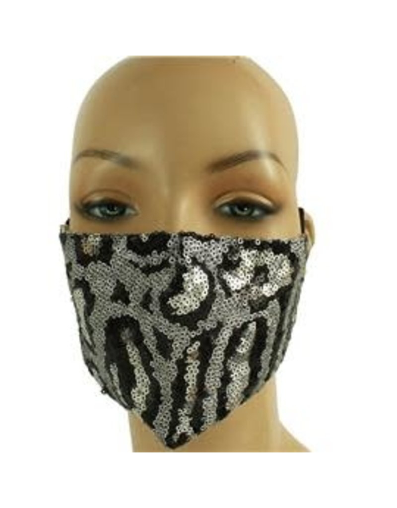 In Style Sequin Mask - Silver