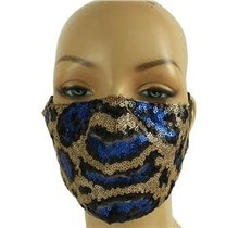 In Style Sequin Mask - Royal Blue