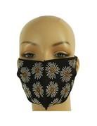 Flower Power Rhinestone Mask - Black