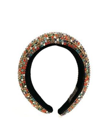 Hi Tide Crystal Headband - Black/Multi
