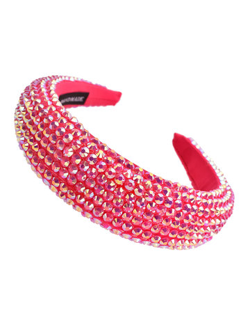 Hi Tide Crystal Headband - Fuschia Pink
