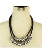 Slide Over Necklace Set - Silver