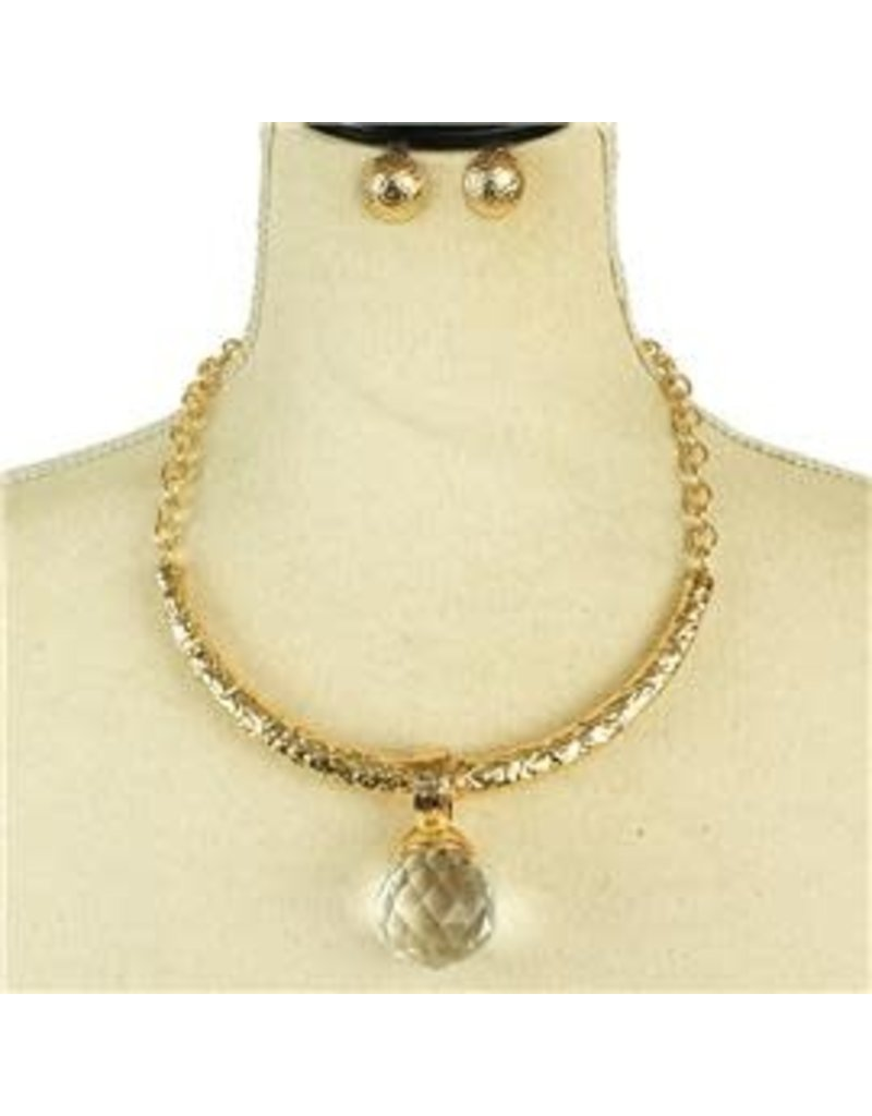 Ball Out Necklace Set - Champagne