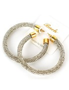 Thats It Crystal Hoops - Gold