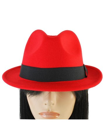 Hide Out Brim Hat - Red