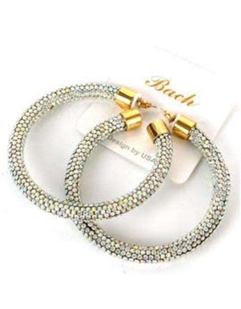That's It Crystal Hoops - Gold Iridescent