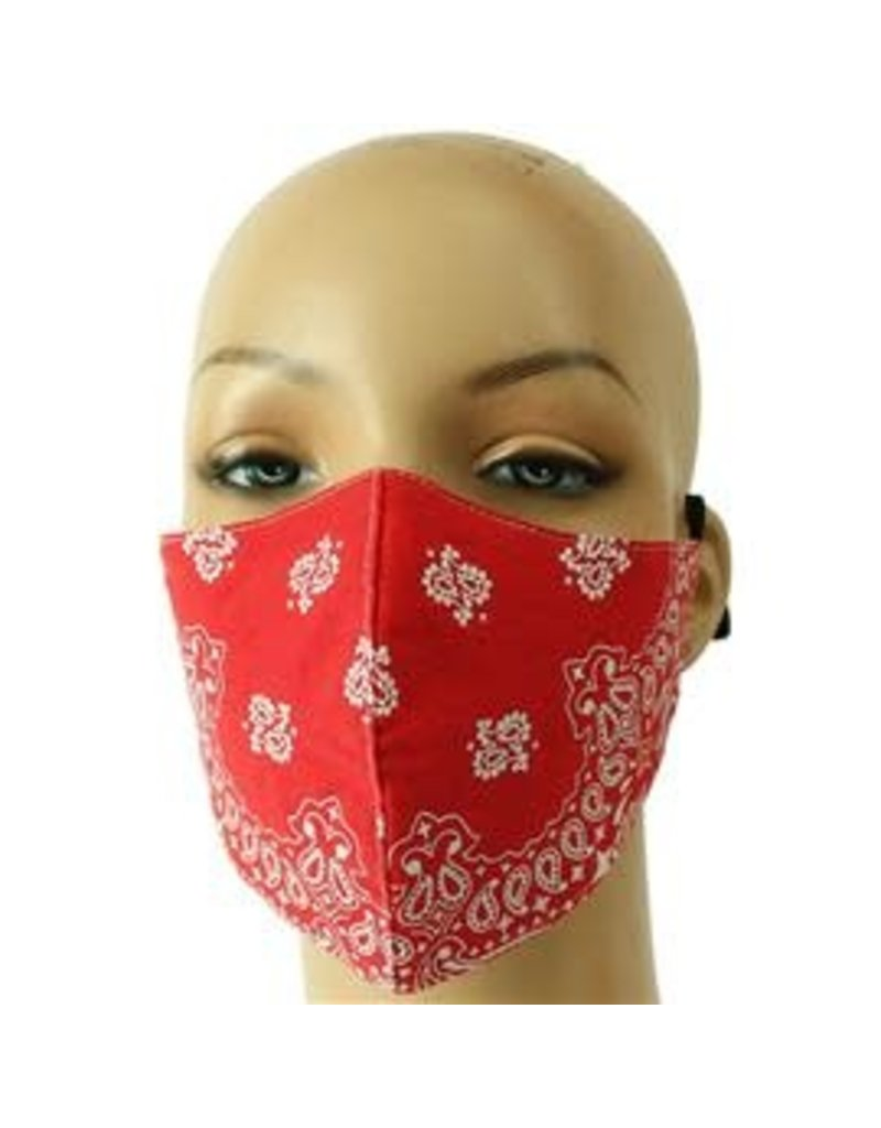 Extra Care Paisley Mask - Red