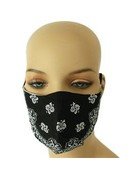 Extra Care Paisley Mask - Black