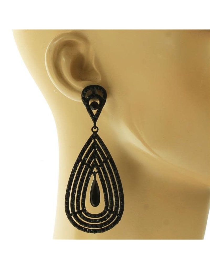Truly Yours Teardrop Earrings - Black