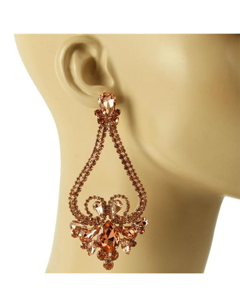 Queen Status Earrings - Rose Gold