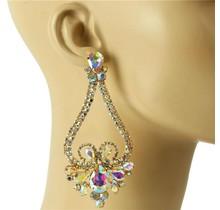 Queen Status Earrings - Gold Iridescent