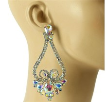 Queen Status Earrings - Silver Iridescent