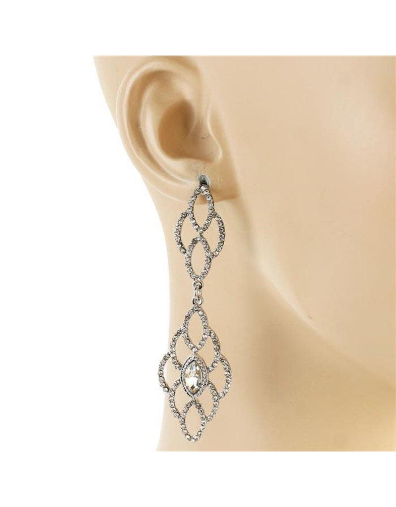 Quick Glitz Earrings - Silver