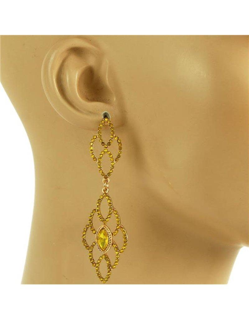 Quick Glitz Earrings - Yellow