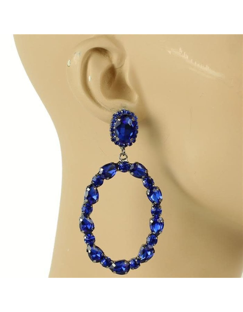Glam Up Earrings - Royal Blue