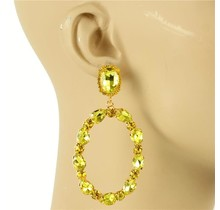 Glam Up Earrings - Yellow
