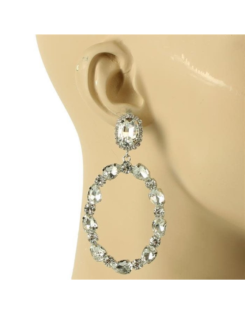 Glam Up Earrings - Silver