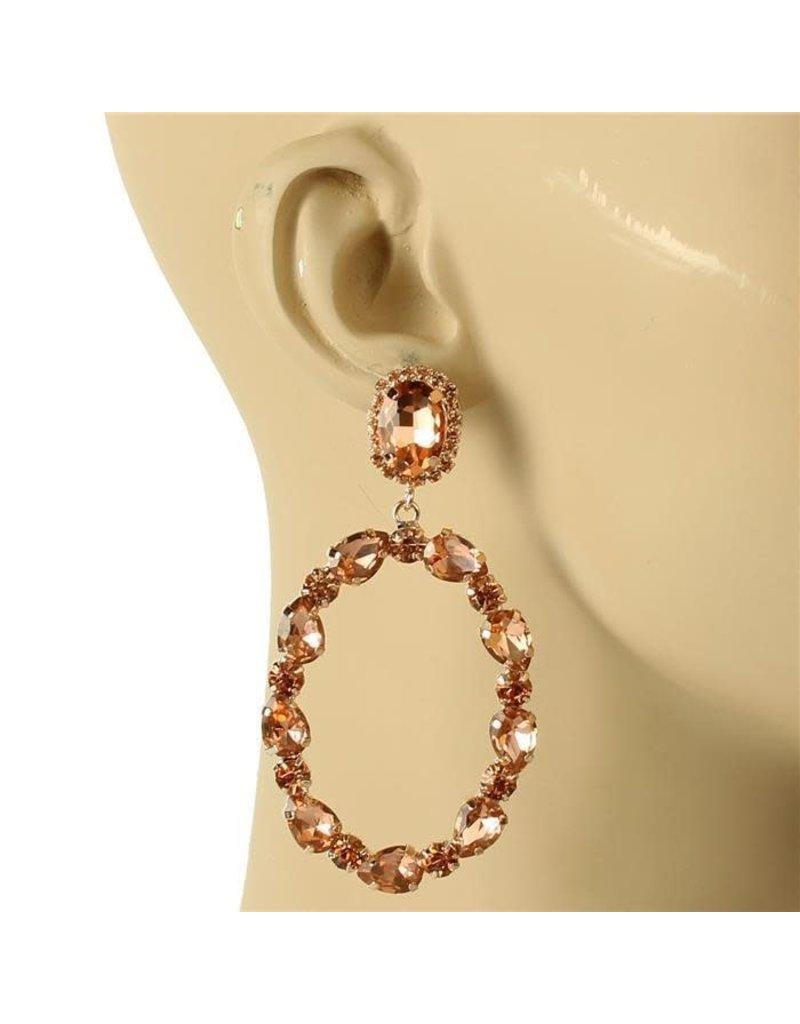 Glam Up Earrings - Rose Gold