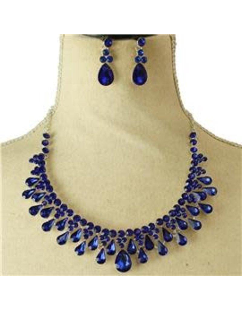 Celebration Time Necklace Set - Royal Blue