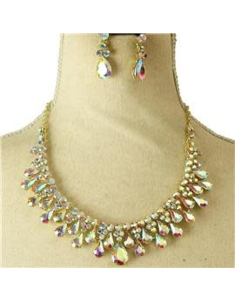 Celebration Time Necklace Set - Gold Iridescent