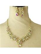 More Petals Necklace Set - Gold Iridescent