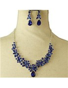 More Petals Necklace Set - Royal Blue